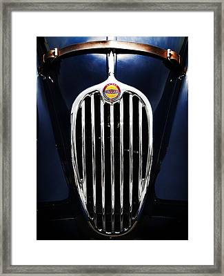 Jaguar Xk140 Grille Framed Print by Mark Rogan