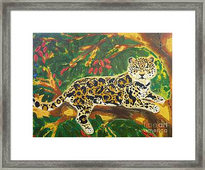 Jaguars In A Jaguar Framed Print by Cassandra Buckley