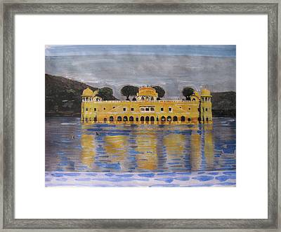 Framed Print featuring the painting Jai Mahal by Vikram Singh
