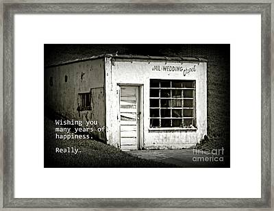 Jail And Wedding Chapel Framed Print