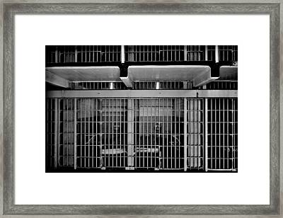 Jail Cells Framed Print by Benjamin Yeager