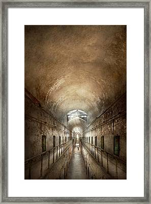 Jail - Eastern State Penitentiary - End Of A Journey Framed Print