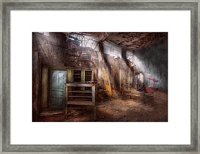 Jail - Eastern State Penitentiary - Sick Bay Framed Print by Mike Savad