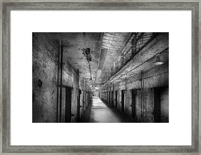 Jail - Eastern State Penitentiary - The Forgotten Ones  Framed Print by Mike Savad