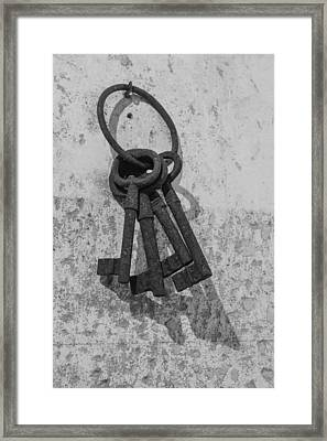 Framed Print featuring the photograph Jail House Keys by Patricia Schaefer