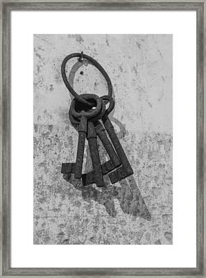 Jail House Keys Framed Print by Patricia Schaefer