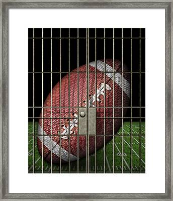 Jailed Football Framed Print