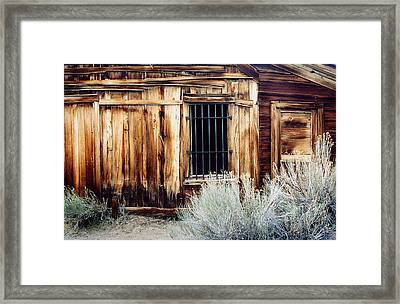 Framed Print featuring the photograph Jailhouse In Bodie State Park California by Mary Bedy