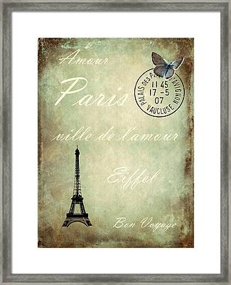 J'aime La France Framed Print