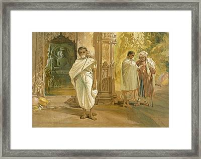 Jain Priests, From India Ancient Framed Print by William 'Crimea' Simpson