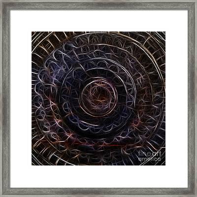 Jain Spiral Framed Print