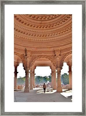 Jain Temple Entrance - Amarkantak India Framed Print by Kim Bemis