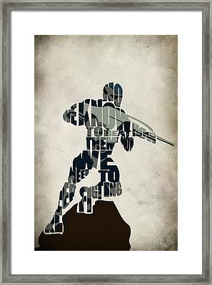 Jake Nomad Dunn Framed Print by Ayse Deniz