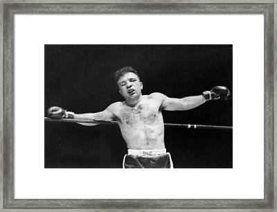 Jake raging Bull Lamotta Framed Print by Underwood Archives