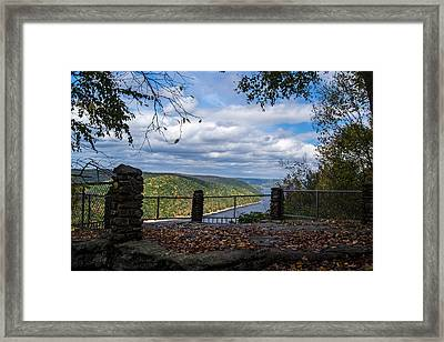 Jakes Rocks Overlook Framed Print