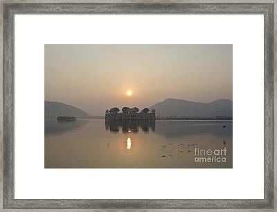 Jal Mahal In Sunrise Framed Print