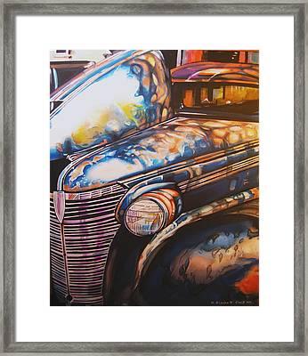 Jalopy Framed Print by Kathleen Bischoff