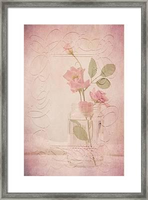 Jam Jar Roses  Framed Print by Sandra Foster