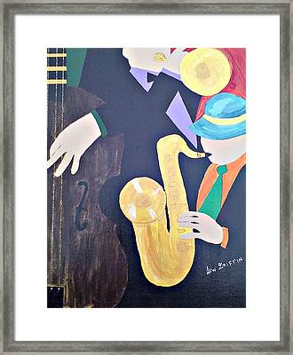 Jam Session Framed Print by Lew Griffin