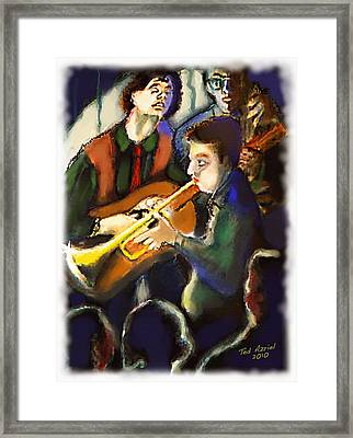 Framed Print featuring the digital art Jam Session by Ted Azriel