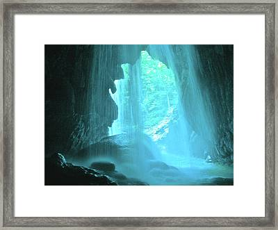Jamaica Blue Framed Print by Carey Chen