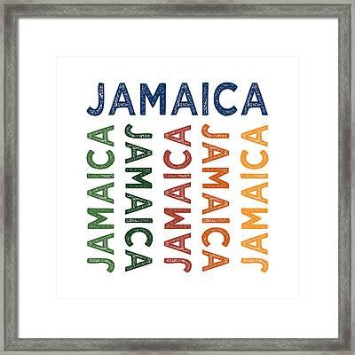 Jamaica Cute Colorful Framed Print
