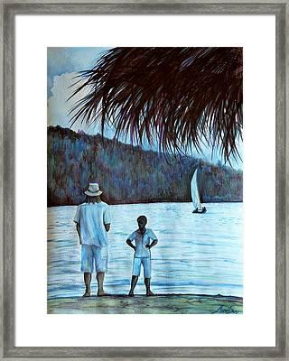 Jamaica Evening Framed Print by Anna  Duyunova