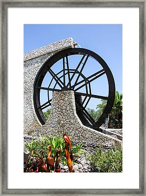 Jamaica Water Wheel Framed Print