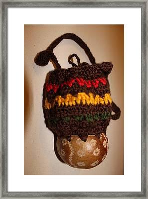 Jamaican Coconut And Crochet Shoulder Bag Framed Print by MOTORVATE STUDIO Colin Tresadern