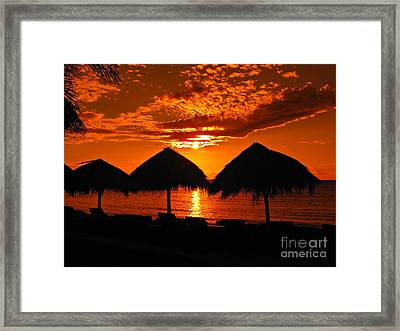 Jamaican Sunset Framed Print
