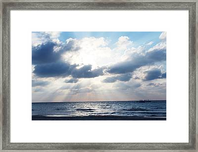 Jamaican Sunset2 Framed Print