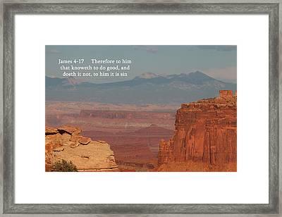 James 4-17  Canyonlands N P  Framed Print