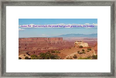 James 4-6 Canyonlands N P  Framed Print