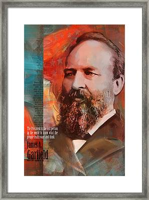 James A. Garfield Framed Print by Corporate Art Task Force
