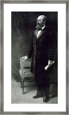 James A Garfield Framed Print by Eliphalet Frazer Andrews