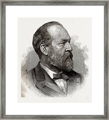 James A. Garfield, President-elect Of The United States Framed Print by Litz Collection