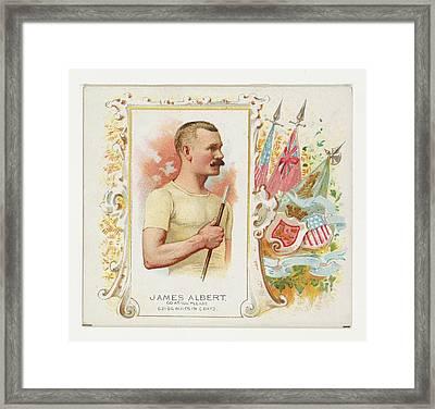 James Albert, Go As You Please Framed Print by Allen & Ginter
