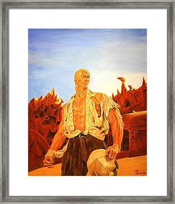James Bama's The Man Of Bronze Framed Print