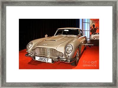 James Bond 007 1964 Aston Martin D B5 Framed Print