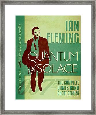 James Bond Book Cover Movie Poster Art 1 Framed Print