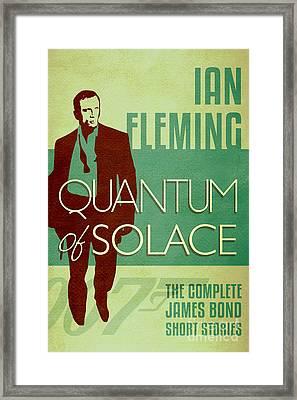 James Bond Book Cover Movie Poster Art 2 Framed Print