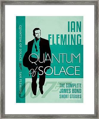 James Bond Book Cover Movie Poster Art 3 Framed Print