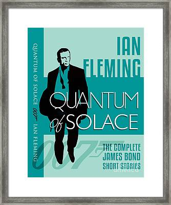James Bond Book Cover Movie Poster Art 4 Framed Print