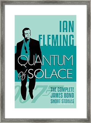 James Bond Book Cover Movie Poster Art 5 Framed Print