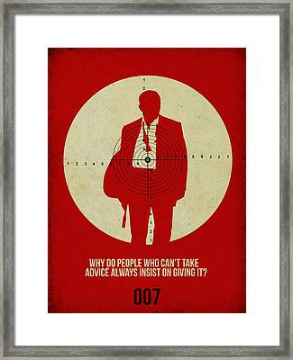 James Bond Casino Royale Poster Framed Print by Naxart Studio