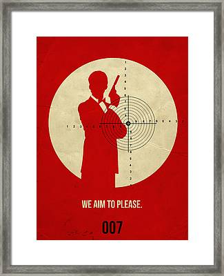 James Bond Golden Eye Poster Framed Print by Naxart Studio