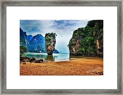 James Bond Island Framed Print by Syed Aqueel