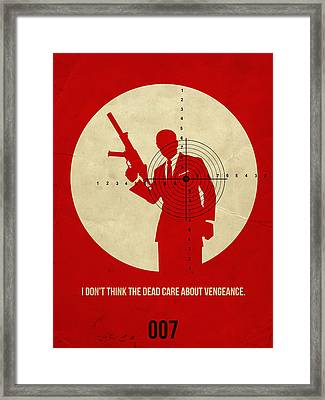James Bond Quantum Of Solace Poster Framed Print by Naxart Studio