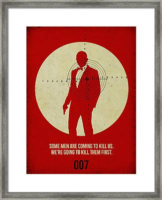 James Bond Skyfall Poster Framed Print by Naxart Studio