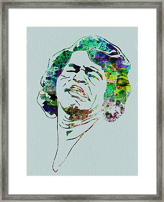 James Brown Framed Print by Naxart Studio